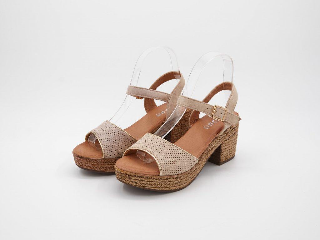 Béžová sandály Sardeania