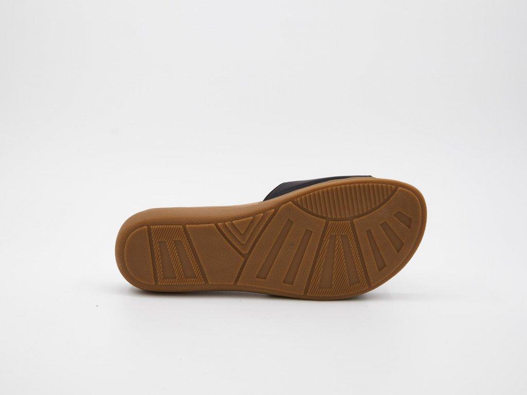 Letní dámské pantofle černé srůží Olza