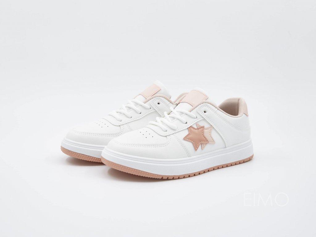 Tenisky Navagioo s růžovým designem - pár