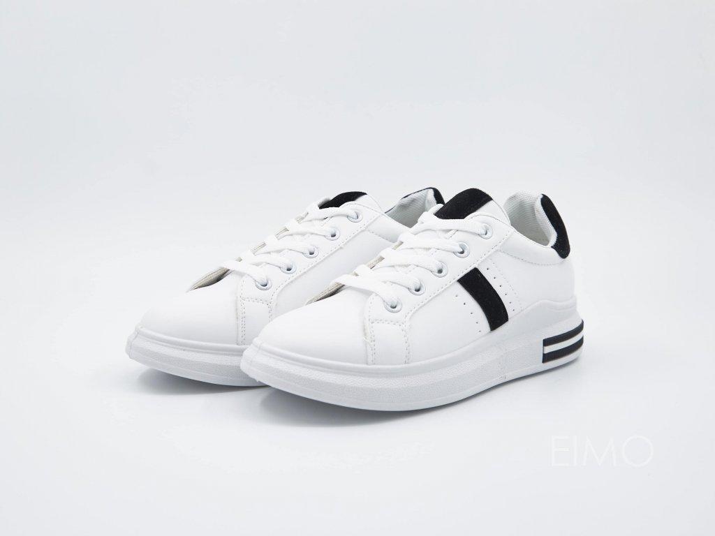 Bílé tenisky VersaW s černým lemováním - pár