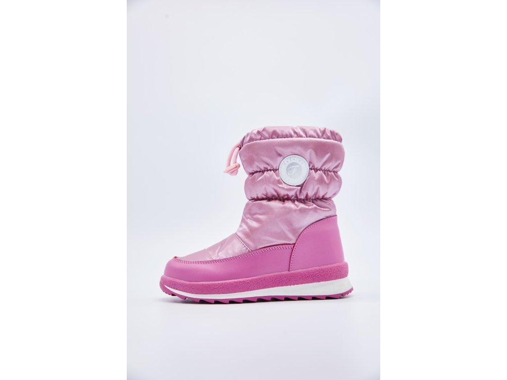 Dětské růžové zimní sněhule Dolly