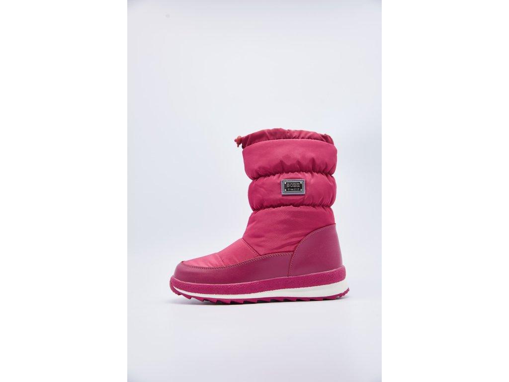 Dětské růžové zimní sněhule Flora