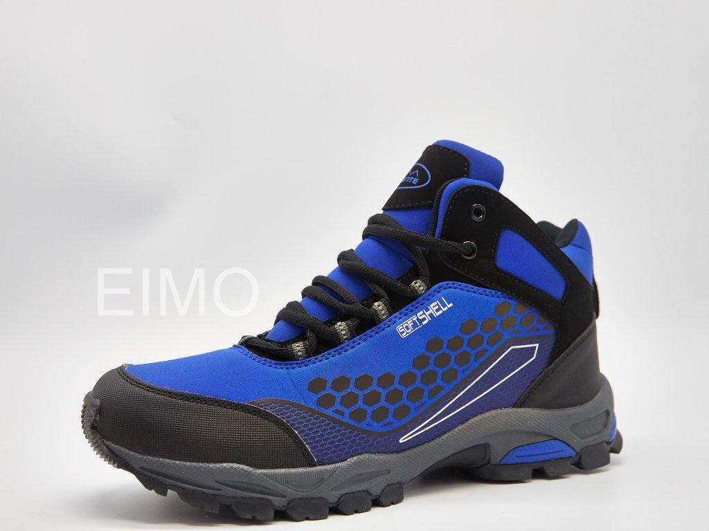 Modrá pánská outdoorová kotníková obuv Lagoon