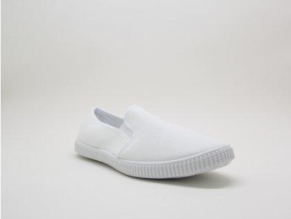 Bílé tenisky slip on na gumu Dove - celkový pohled