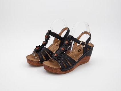 Černé sandály Hyvarea