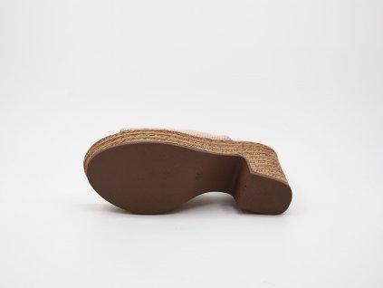 Pantofle dámské na vysokém podpatku béžové Elisa