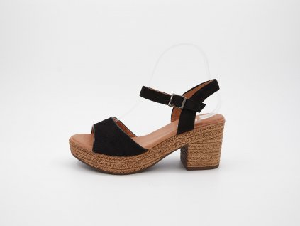 Černé sandály Sardeania
