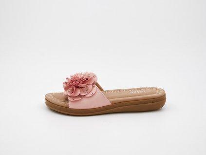 Letní dámské pantofle růžové srůží Vannesa