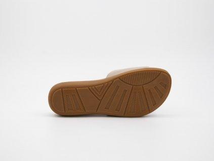 Letní dámské pantofle béžové srůží Veronica