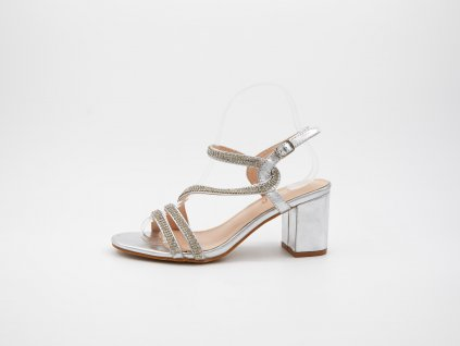 Stříbrné sandály Malevill