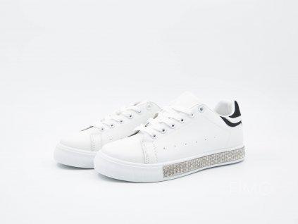 Krémově bílé tenisky ShinyBarcelona - pár