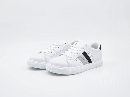 Černo-stříbrné tenisky SimplyElegant1 - pár