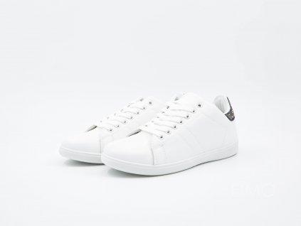 Bílé tenisky ShuffleIt! s černým designem - pár