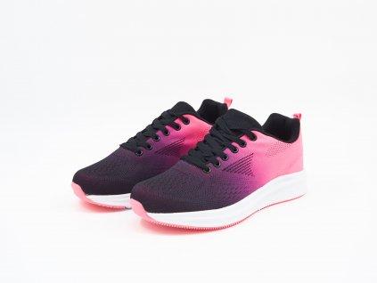 Černo-růžové Dámské sportovní tenisky s vysokou podrážkou Sierra - PÁR