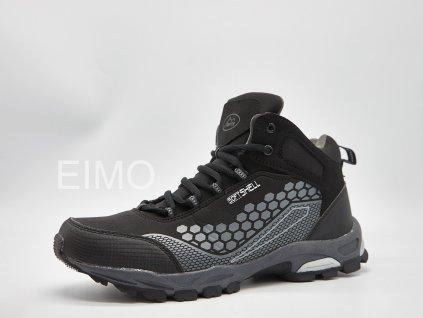 Černo-šedá pánská outdoorová kotníková obuv Iron