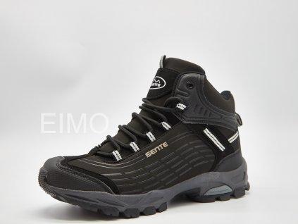 Dámská kotníková outdoorová obuv Stoney - černá