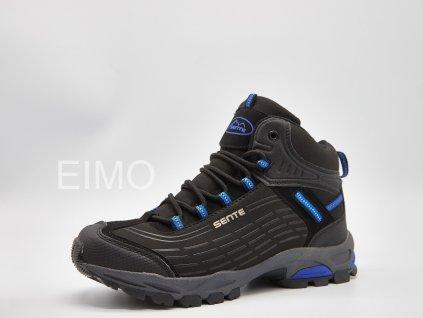 Černo-modrá dámská kotníková outdoorová obuv Embrace