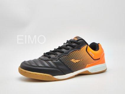 Černo-oranžová pánská sálová obuv Primus
