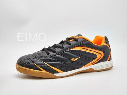 Sálová obuv dámská šněrovací černo-oranžová Sullio