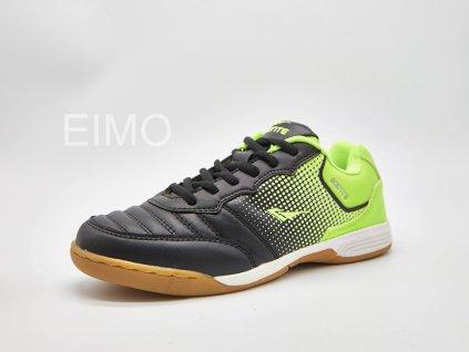 Černo-zelená pánská sálová obuv Solla