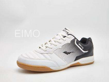 Bílo-černá pánská sálová obuv Vector