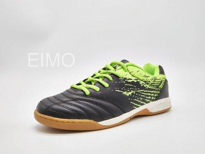 Černo-zelena pánská sálová obuv Merol