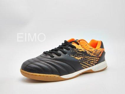 Černo-oranžová pánská sálová obuv Aligator