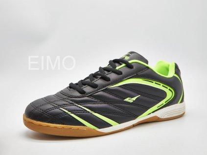 Černo-zelená pánská sálová obuv Hero