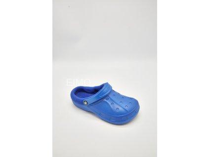 Dámské zateplené nazouváky gumové 601-9 modré