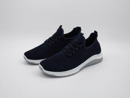 Volnočasová obuv pánská ergonomická s bílou podrážkou černá Bronto