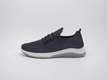 Volnočasová obuv pánská ergonomická s bílou podrážkou šedá Sport