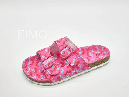 Pantofle zdravotní dámské růžové s přezkami Cherry