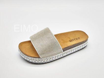 Domácí pantofle dámské stříbrné Pearl