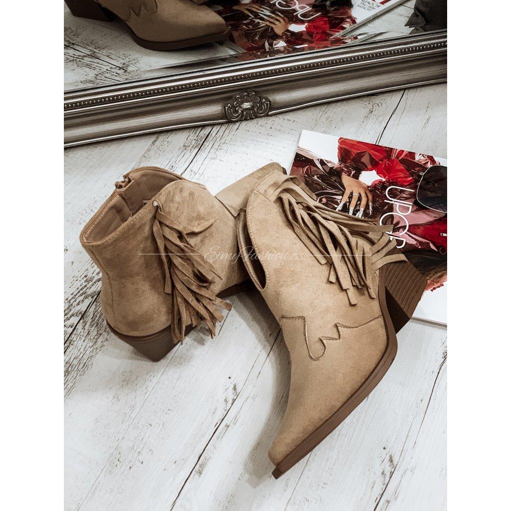 Kotníčkové boty REYES/béžový