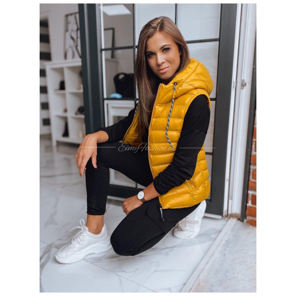 Prošívaná vesta Tisha/Yellow