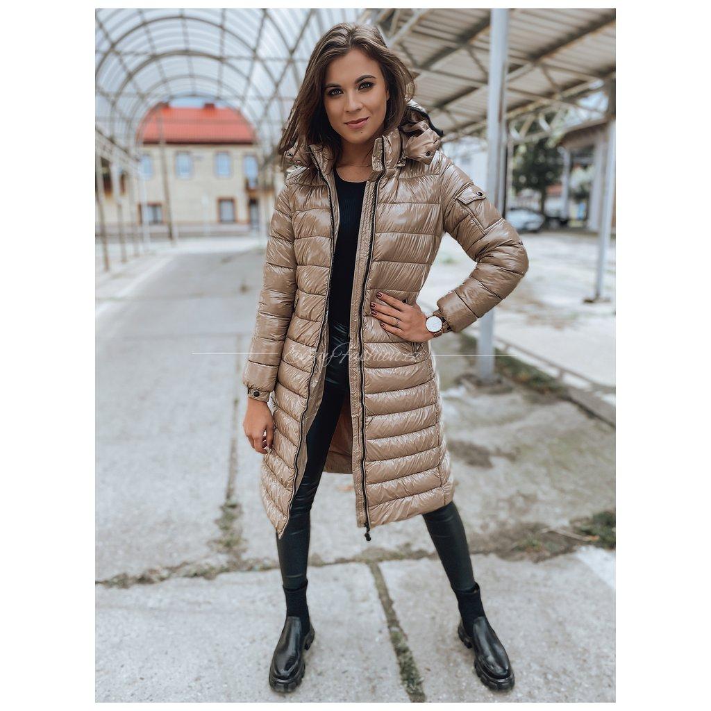Dámský prošívaný kabát BOLONIA/Camel