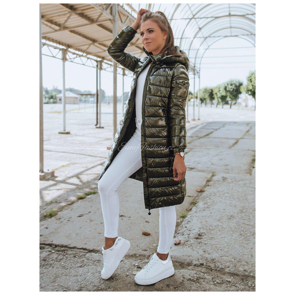 Dámský prošívaný kabát BOLONIA/Green