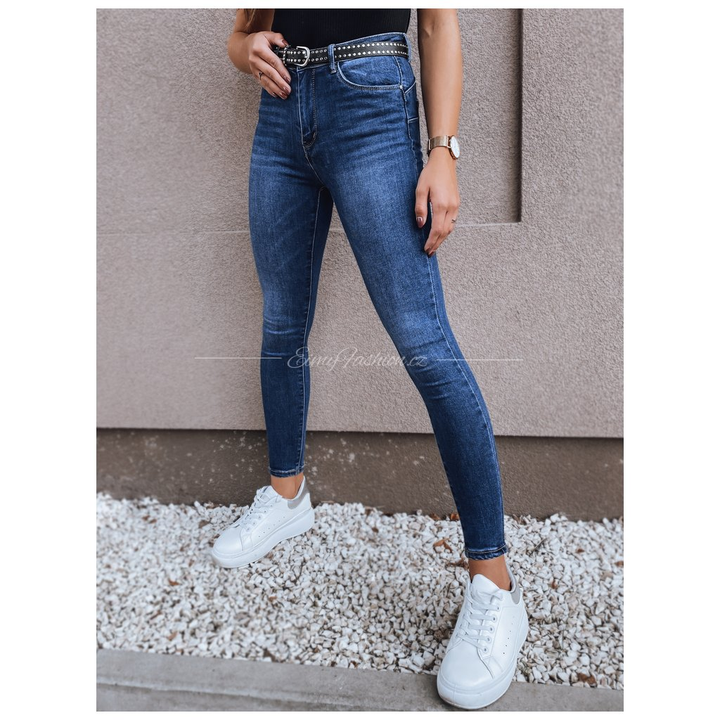Dámské modré kalhoty LENA