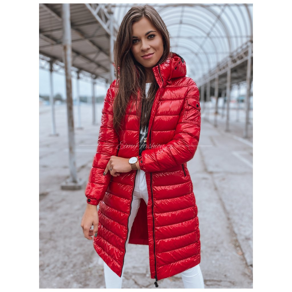 Dámský prošívaný kabát BOLONIA/Red