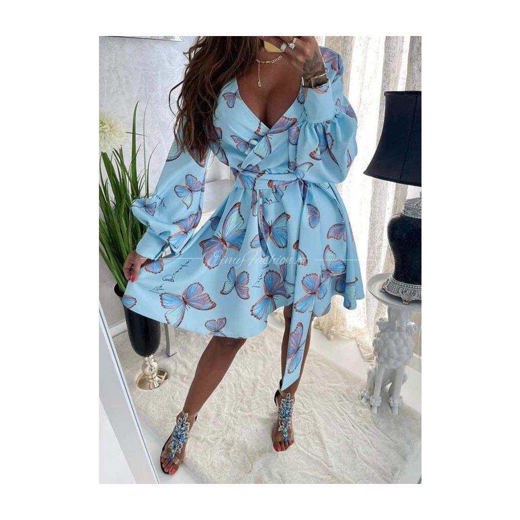 Šaty BUTTERFLY/Blue