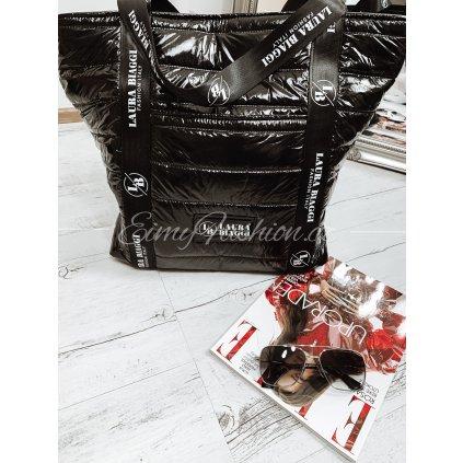 Kabelka LAURA/black/silver