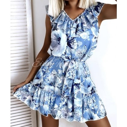 Šaty BOHO/blue