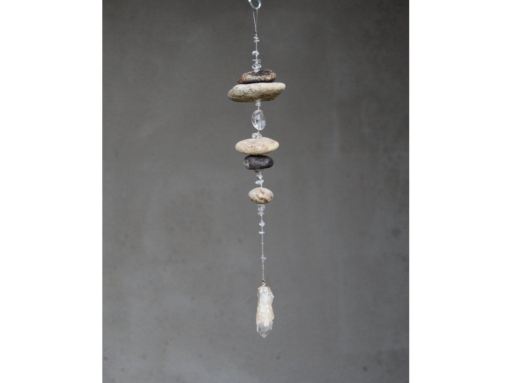Ohárky s krystalem křemene,33cm