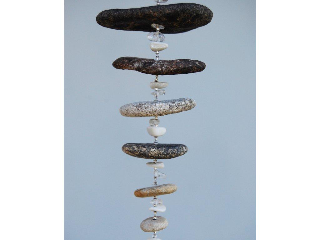 Říční světlohra s perletí a křišťálem, 42,5cm