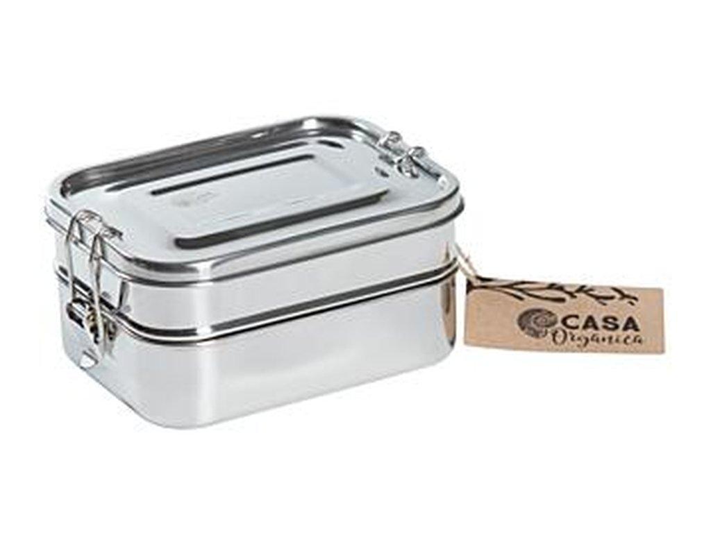 CASA ORGANICA Obědový set dóz – nerez (3 ks)