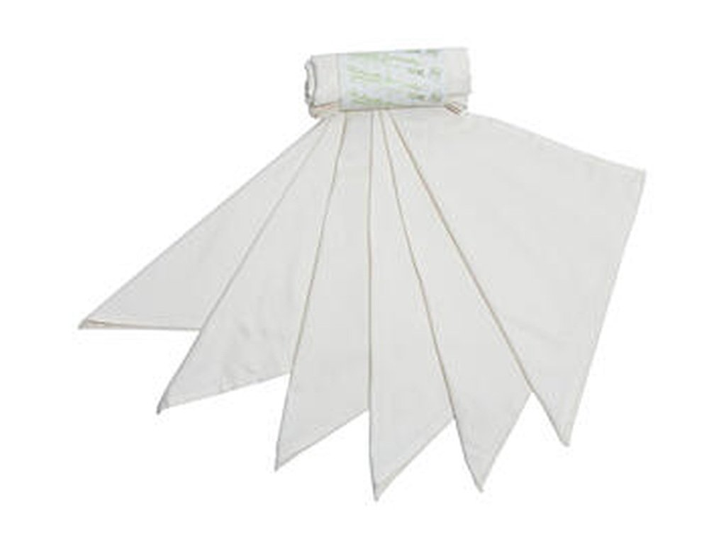 CASA ORGANICA Heboučké kapesníky z biobavlněného saténu pánské – mix (36×36 cm) 6 ks bílá