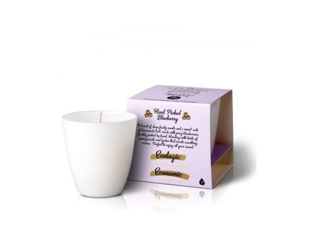 The Greatest Candle Vonná svíčka ve skle (130 g) borůvky