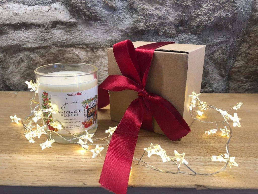 JEMNO Nejkrásnější Vánoce sojová svíčka