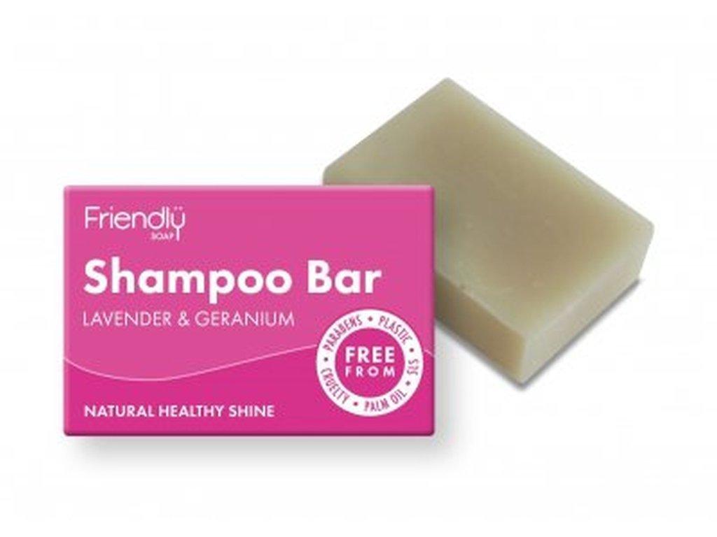 FRIENDLY SOAP Mýdlo na vlasy Levandule a Pelargonie přírodní mýdlo