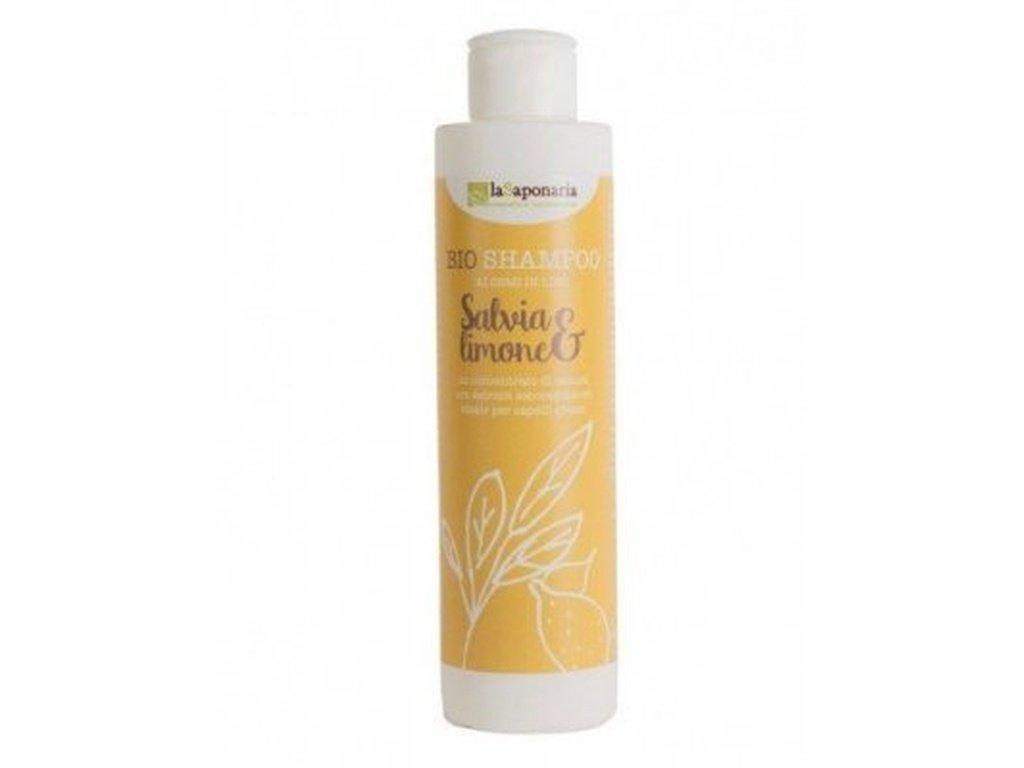 LaSAPONARIA Šampon se šalvějí a citrónem (200 ml) šampon na mastné vlasy